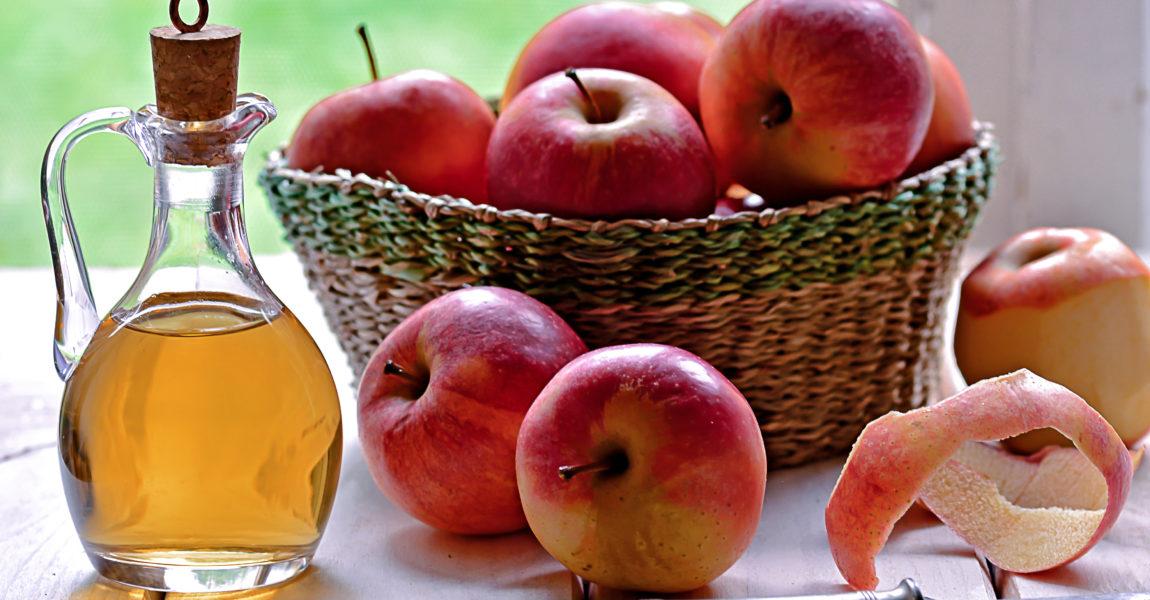 Apple vinegar Bottle of organic apple vinegar
