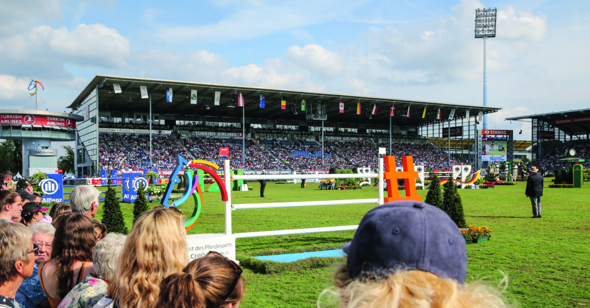Rolex Grand Prix - CHIO Aachen 2019 AACHEN, GERMANY - JULY 21: A view of the parcour during the Rolex Grand Prix of CHIO Aachen 2019 at Aachener Soers on July 21, 2019 in Aachen, Germany. (Photo by Christof Koepsel/Getty Images for ROLEX)