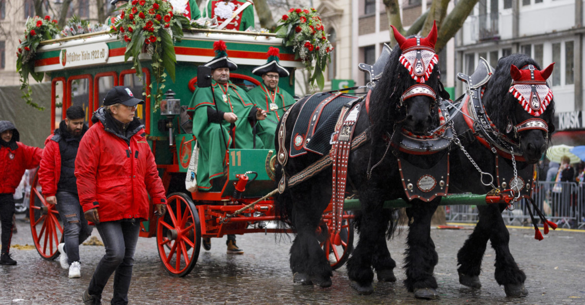 Pferde beim Kölner Rosenmontagszug 2020. Köln, 24.02.2020 *** Horses at the Cologne Rose Monday Parade 2020 Cologne, 24 Pferde beim Kölner Rosenmontagszug 2020. Köln, 24.02.2020 *** Horses at the Cologne Rose Monday Parade 2020 Cologne, 24 02 2020 Foto:xC.xHardtx/xFuturexImage