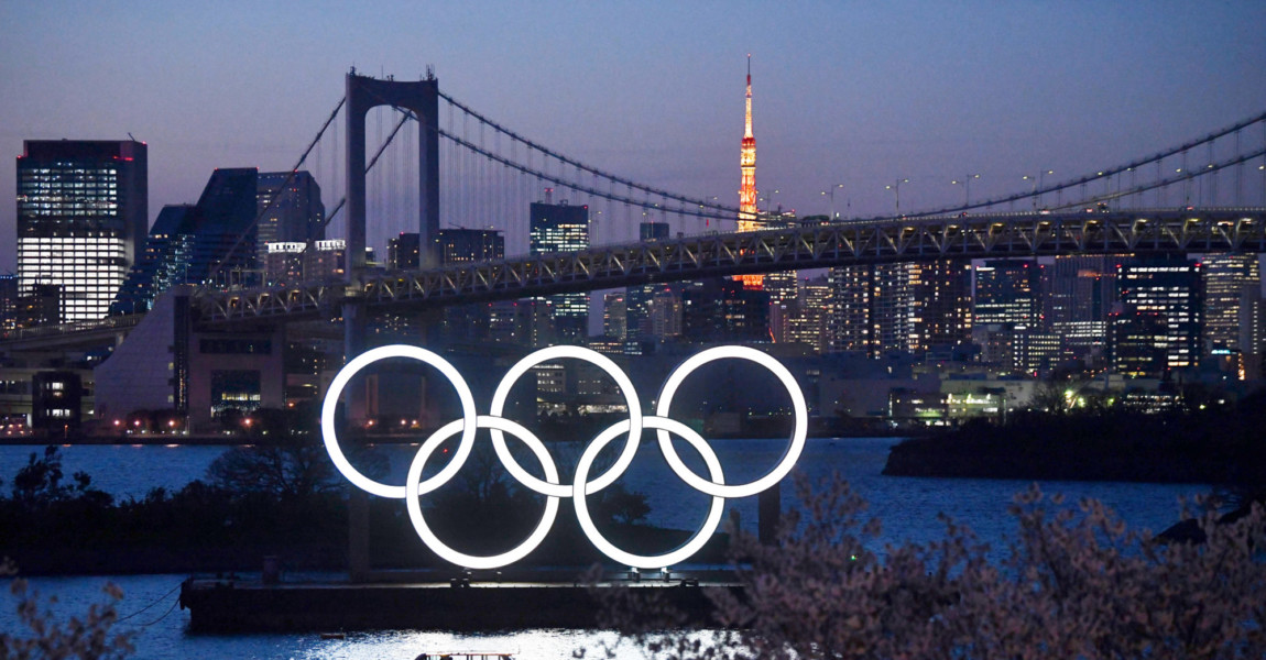 Japanese Government And IOC Agree To Postpone Olympic Games TOKYO, JAPAN - MARCH 25: A boat sails past the Tokyo 2020 Olympic Rings on March 25, 2020 in Tokyo, Japan. Following yesterdays announcement that the Tokyo 2020 Olympics will be postponed to 2021 because of the ongoing Covid-19 coronavirus pandemic, IOC officials have said they hope to confirm a new Olympics date as soon as possible. (Photo by Carl Court/Getty Images)