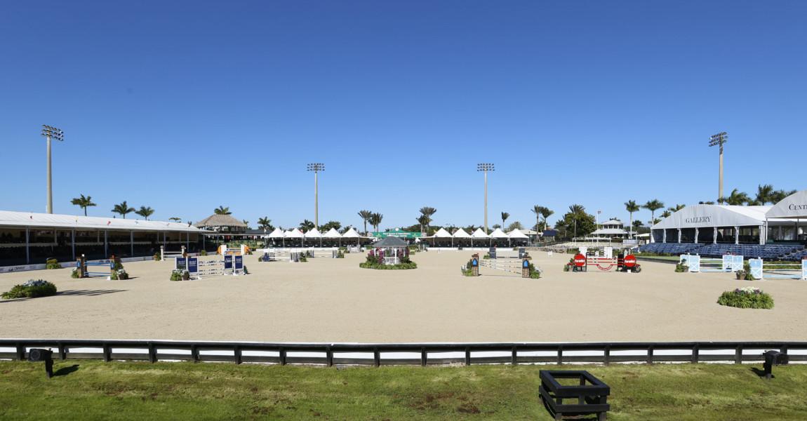EQUESTRIAN: FEB 3 Winter Equestrian Festival - Class 1006 - $2,500 1.35m Jumper (II2d) CabanaCoast WELLINGTON, FL - FEBRUARY 3: A general view of the International Arena during the Class 1006 - $2,500 1.35m Jumper (II2d) CabanaCoast in the Winter Equestrian Festival on February 3, 2021, at the Palm Beach International Equestrian Center in Wellington, Florida. (Photo by Joel Auerbach/Getty Images)