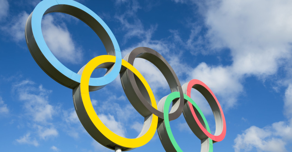 Rio,De,Janeiro,-,October,14,,2015:,Olympic,Rings,Stand
