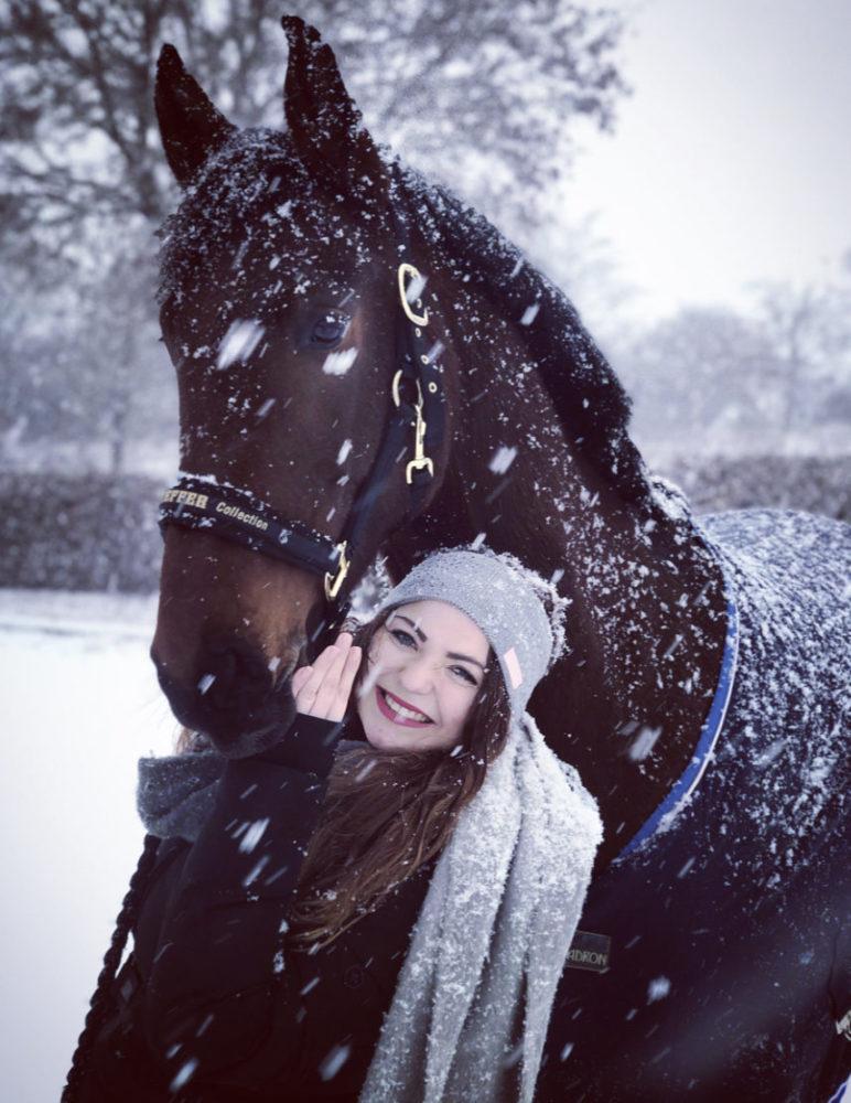 Schneespaß mit Benito