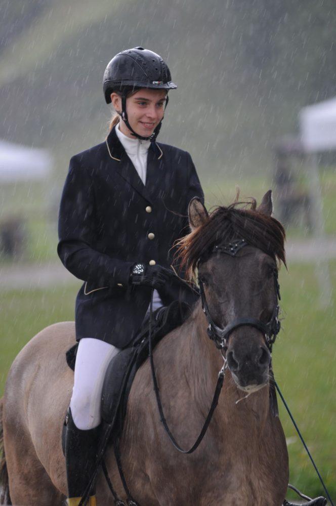 Zufriedenes Team trotz Regen!